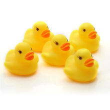Lot 5Pcs Yellow Baby Children Bath Toys Cute Rubber Squeaky Duck Ducky