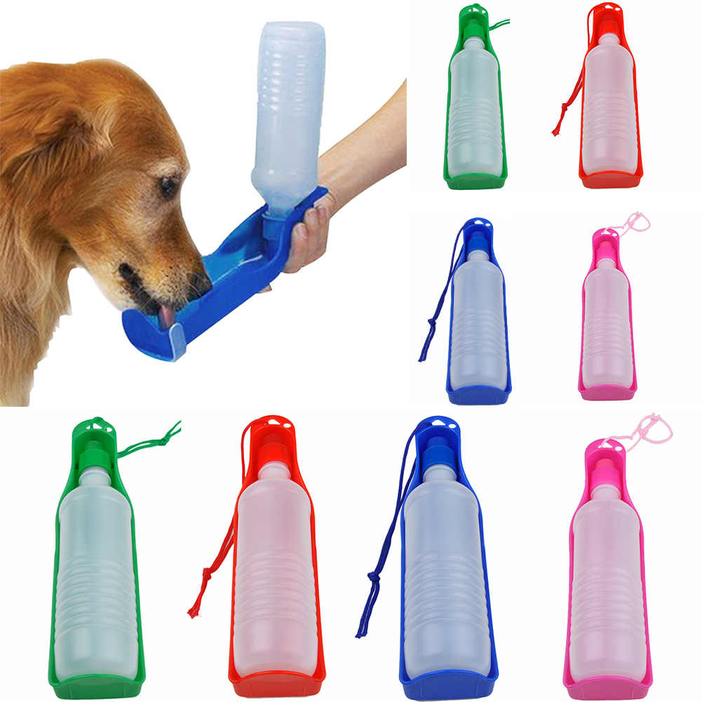 New Pet Folding Drinker 500ML/250ML pet dog cat outdoor portable drinking bottle bowl pet travel drinker