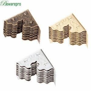 Image 3 - Bowarepro antika mücevher kutusu köşe ayak ahşap kutu köşe koruyucu dekoratif köşe mobilya Metal el sanatları 25mm 10 adet