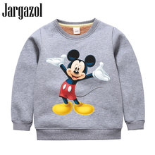 Jargazol Kids Kleding Jongens Sweatshirt Herfst Winter Berber Fleece Tops Cartoon Mickey Gedrukt Meisjes Sweatshirts Peuter Shirt(China)