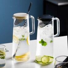MDZF SWEETHOME 56 унций стеклянный кувшин для воды с ситечком из нержавеющей стали сок холодный чай Горячая или холодная вода банка с барной ложкой