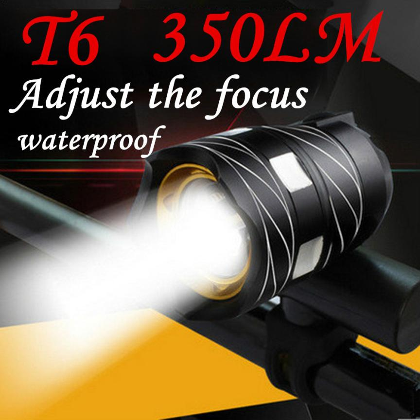 350LM T6 LED Cycling Bike Bicycle Head Light Flashlight 3 Modes Torch USB Focus Adjustable with Rubber Pad Waterproof Light P60 wholesale price 2pcs chrome steel bicycle ball bearing rubber sealed for bike cycling bicycle self lubricated with grease