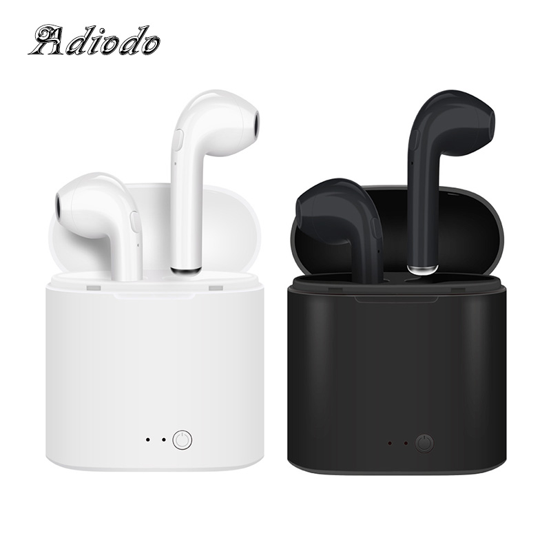 TWS Bluetooth Earphones i7s Mini True Wireless Earbud Headset cordless headphone earphone for iPhone Android with Charging Box