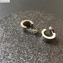 cute bear stainless steel earrings round nice sharp