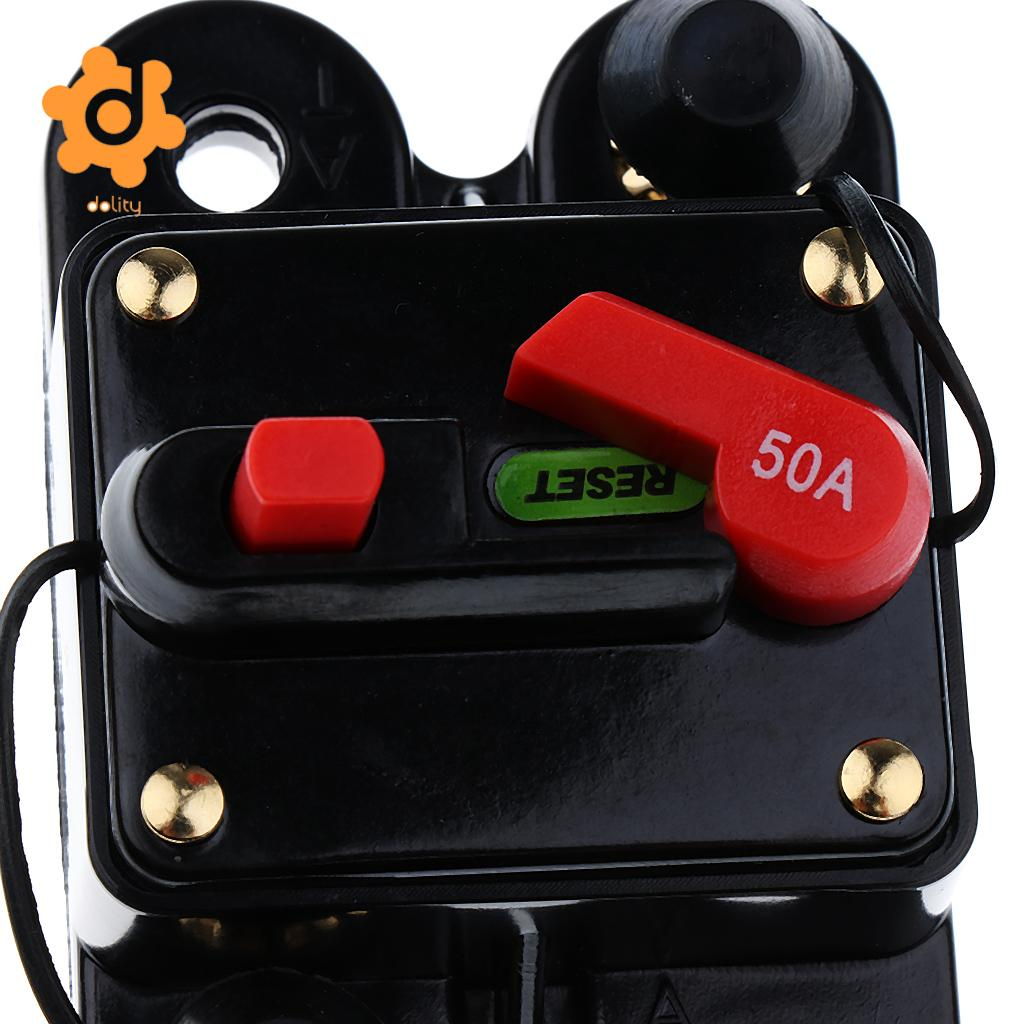 150A 50A//150A//200A//250A Car Inline Manual Reset Circuit Breaker Fuse Power Protection DC12V-24V