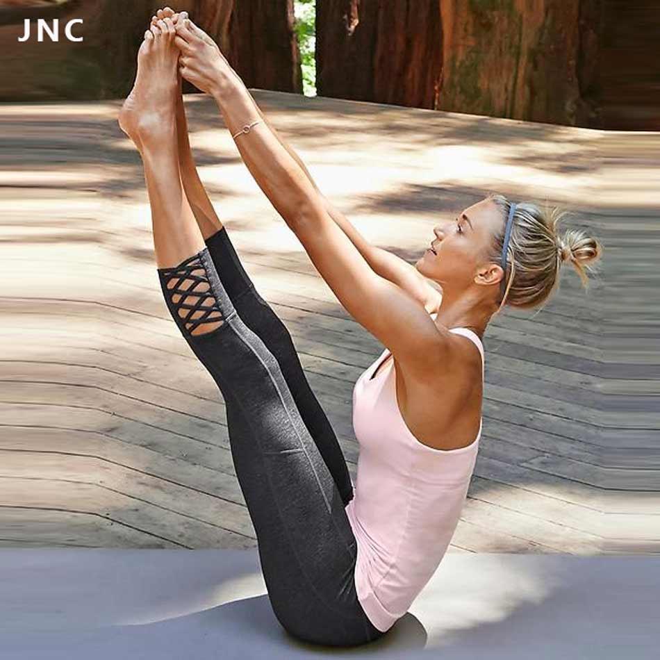 Prix pour Haute Qualité Femmes Sport Collants Contraste De Yoga Pantalon Maille Splice Respirant Yoga Leggings Sport Run Serré pour Femmes Sportswear