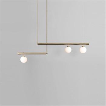 Nordic Living Room Pendent Lights Post Modern Minimalist Atmosphere Restaurant Light Postmodern Geometric Line Bedroom Lamps