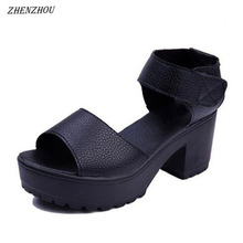 ZHENZHOU shoes woman 2019 summer woman sandal 7CM high-heele