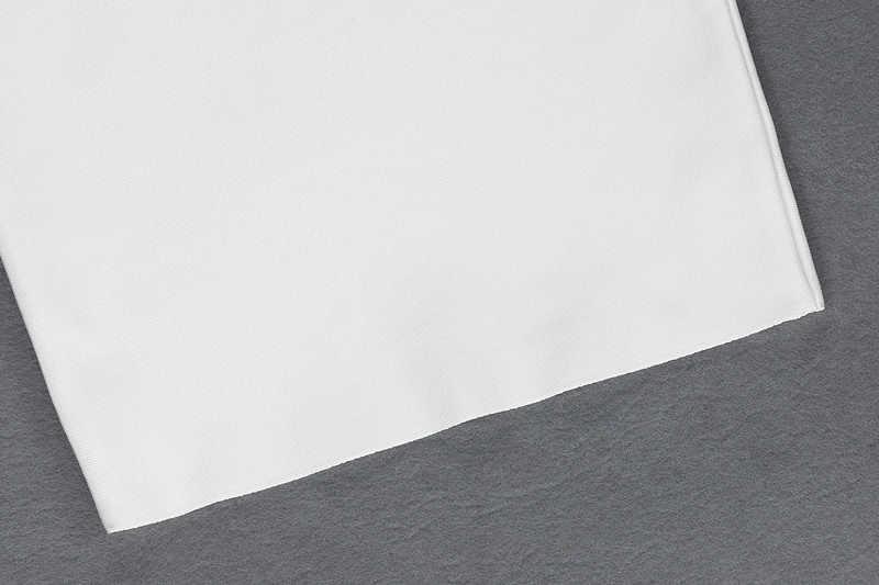 Gosexy 2019 nuevo vestido de vendaje para mujer Vestido de manga larga de encaje con lentejuelas Sexy ajustado para fiesta en Club vestido blanco