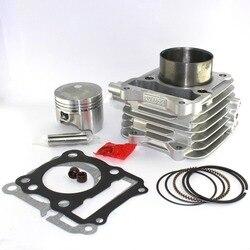 62mm für Suzuki GN 125 GN125 EN125 DR125 GS125 GZ125 TU125 150cc Geändert Motor 157FMI Konvexen Kolben Motorrad Zylinder kit