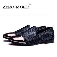 Moda Hombres Zapatos CERO MÁS Suaves Zapatos Planos De Cuero Casual Slip on Pisos Mocasines Los Hombres Mocasines de Conducción de Alta Calidad # ZM122