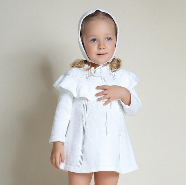 Robe bebe hiver blanche