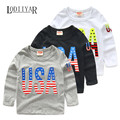 Casual Korean Letter Long Sleeve T-shirts Baby Boys Clothes, Children Clothing Fashion Top Tees Bottoming Shirts Spring Autumn