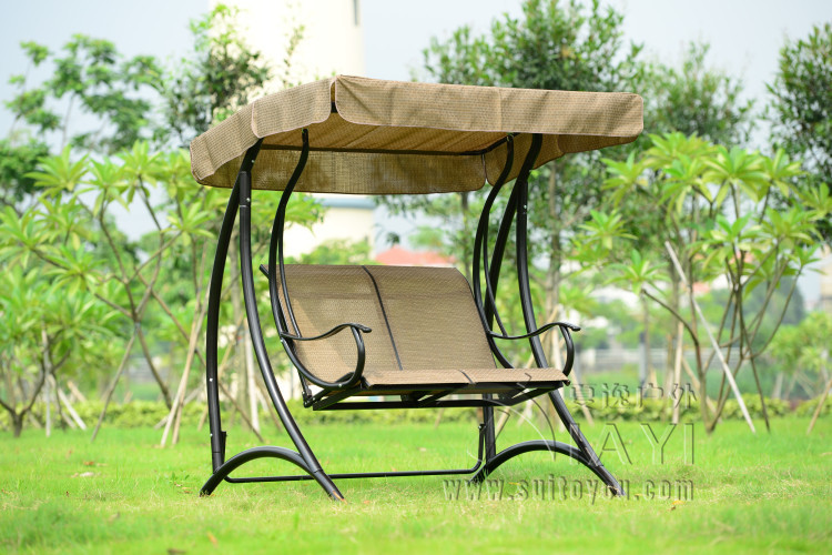 2 Person Patio Garden Swing Outdoor Hammock Hanging Chair Bench With Canopy  ...