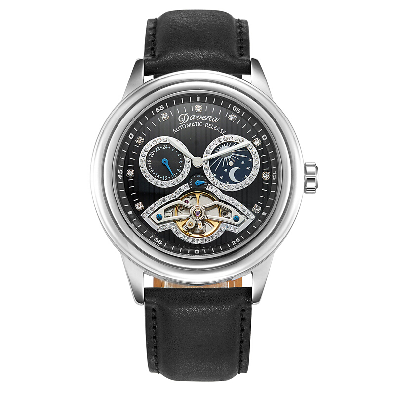 MATISSE Couple Crystal Dial Leather Strap Automatic Mechanical Watch Wristwatch авто рено достер казань