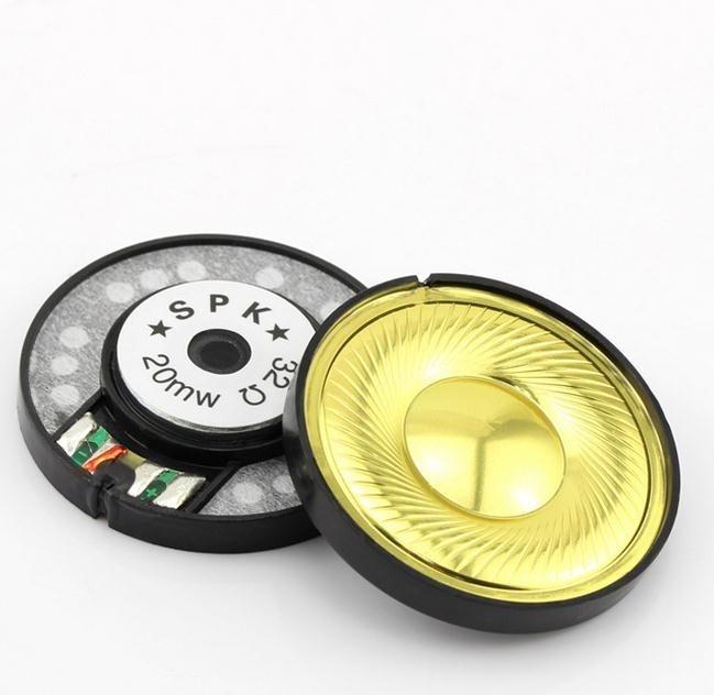 bilder für 5 Pairs Hohe Qualität Goldene Perfekte Klangqualität Einheit 40mm Lautsprechereinheit Ersatz Für Headset