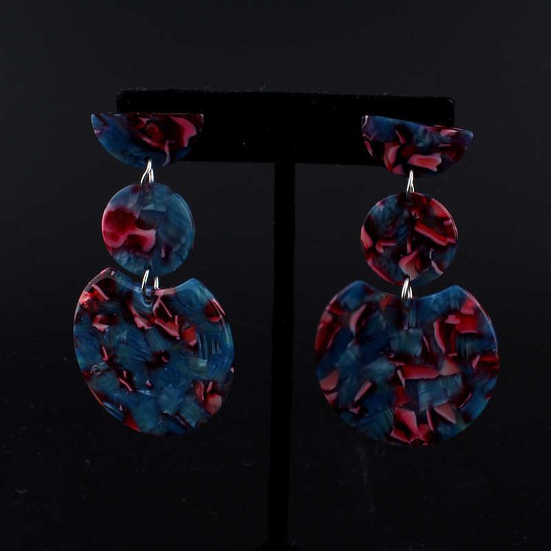 Новые висячие серьги для женщин этнический винтажный цвет многоцветные большие висящие серьги в богемном стиле оптовая продажа ювелирных изделий