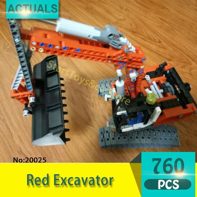Lepin 20025 760Pcs Technic series Red Excavator Model Building Blocks Set  Bricks Toys For Children  Gift