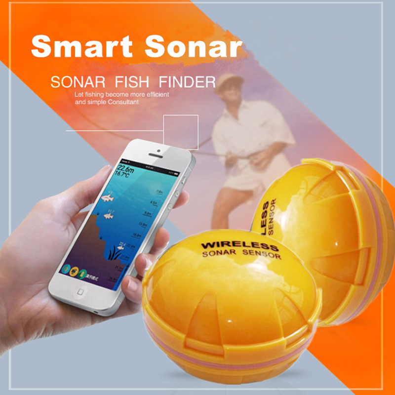 Sans fil Fish Finder Portable Profondeur Fish Finder Bluetooth Sous-Marine Pêche Caméra Sonar Sensor Fish Finder yumeiqun