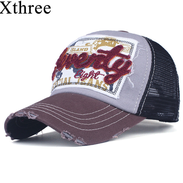 Xthree fashion mesh baseball cap for women men's summer cap snapback Hat for men bone gorra casquette fashion hat 5