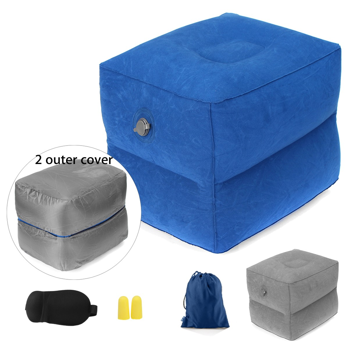 New Portable Children Cars Airplane Inflatable Travel Footrest Parallel Seat Relex Sleep Cushion Pillow Outdoor Rest Tools