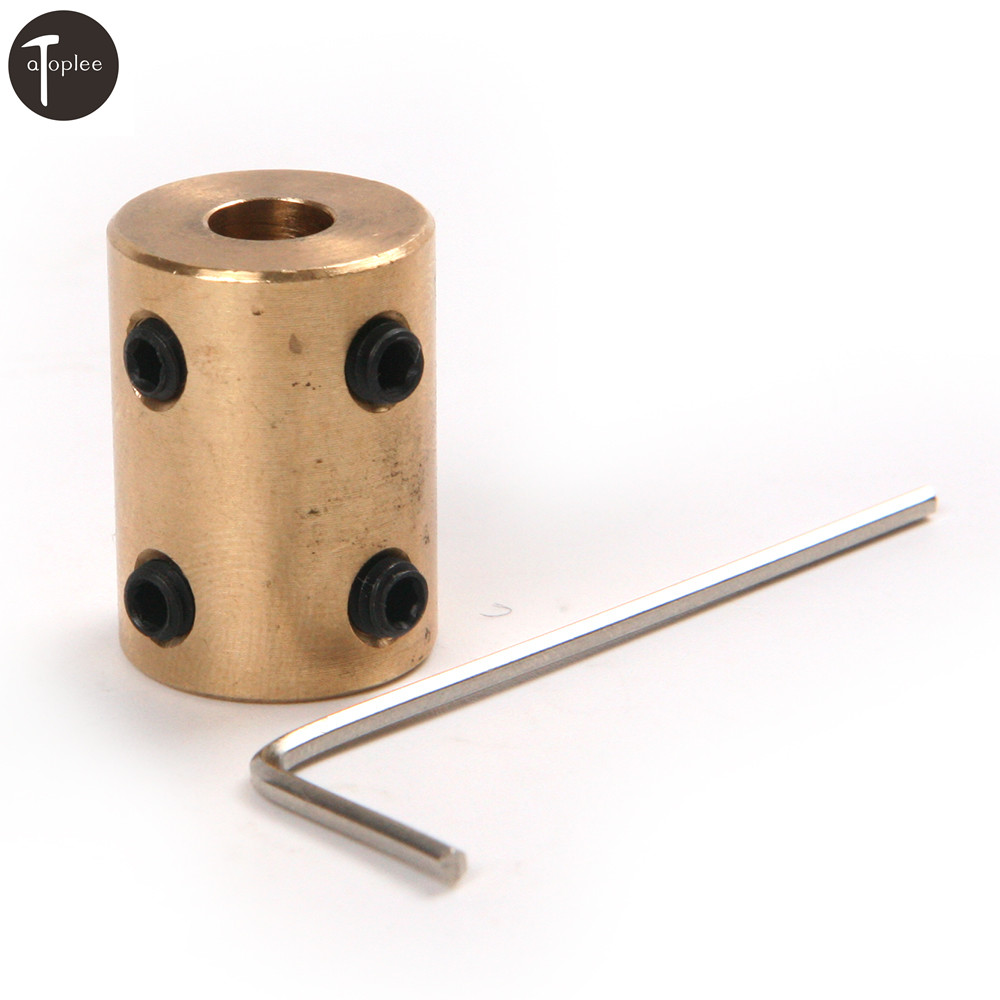 1PC 5-8mm/10-12mm/10-10mm/6-6mm RC Airplane Model Motor Jaw Copper Shaft Coupling Brass Coupler Rigid Motor Connector image
