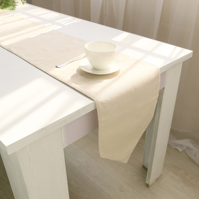 wliarleo beige solid table runner europe classical table runners for