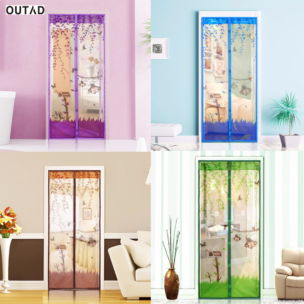 Online get cheap screen door aliexpress alibaba group outad 2017 magnetic mesh screen door mosquito net curtain protect from insects four colors 90 vtopaller Choice Image
