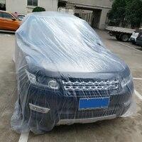 سيارة يغطي الغبار البلاستيك pe فيلم شفافة المتاح غطاء سيارة غطاء سيارة المتاح للماء