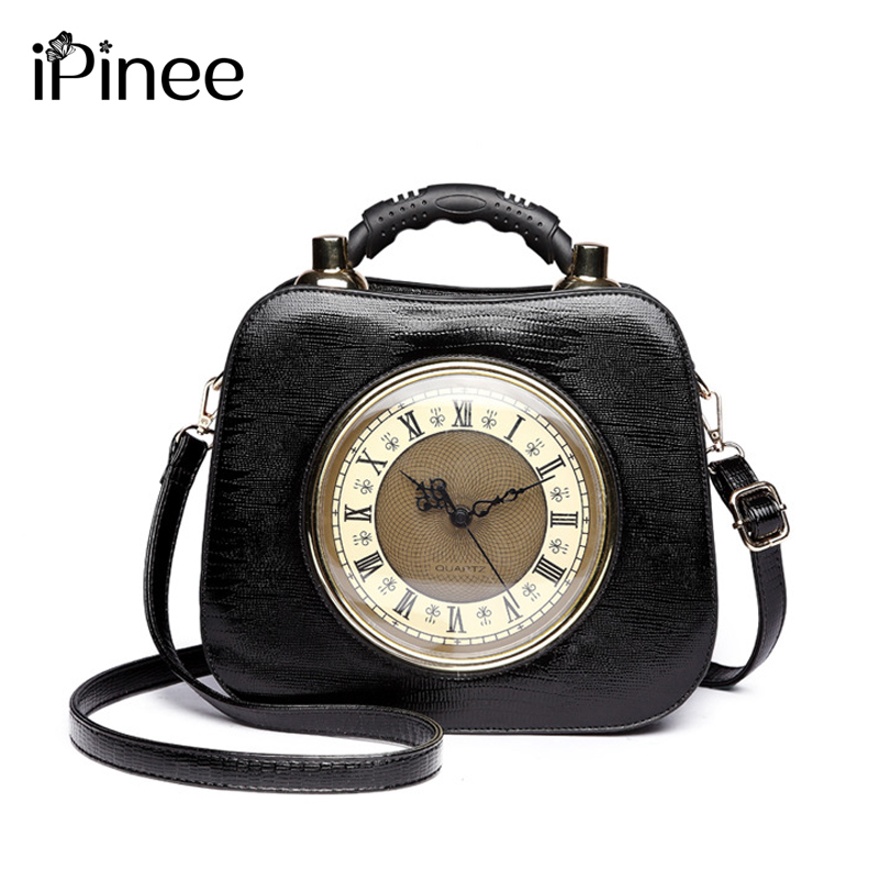 2018 Real Clock Shoulder Bag Women Cross Body Bags Lady PU Leather Handbags Stylish Party Clutches Evening Purses2018 Real Clock Shoulder Bag Women Cross Body Bags Lady PU Leather Handbags Stylish Party Clutches Evening Purses