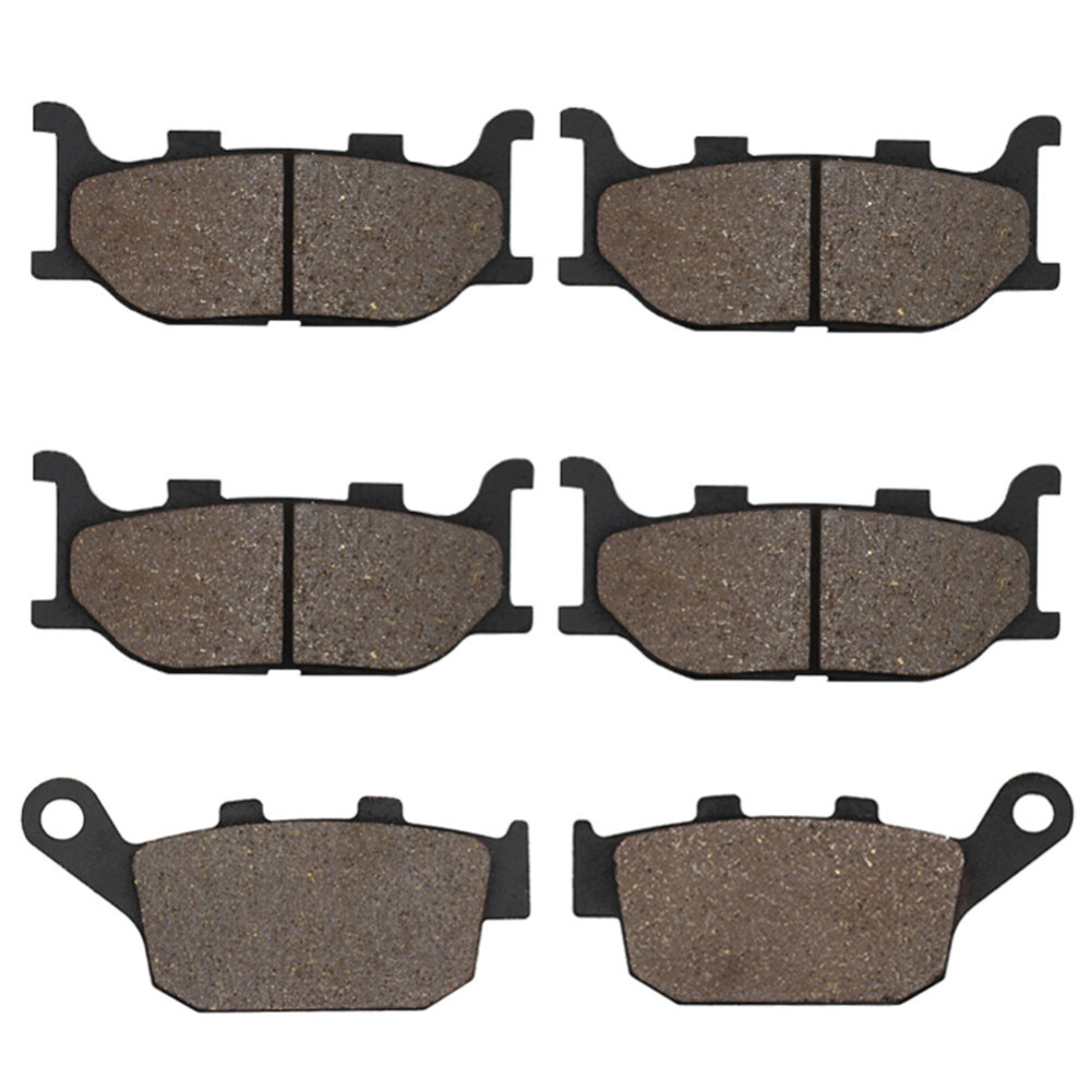 Cyleto Front and Rear Brake Pads for Yamaha XJ6F XJ6 F XJ 6 F Diversion 2010 2011 2012 XJ6S & XJ6N 2009 2010 2011 2012 cyleto motorcycle front and rear brake pads for yamaha xvz1300 xvz 1300 royal star boulevard tour deluxe tour classic 96 01