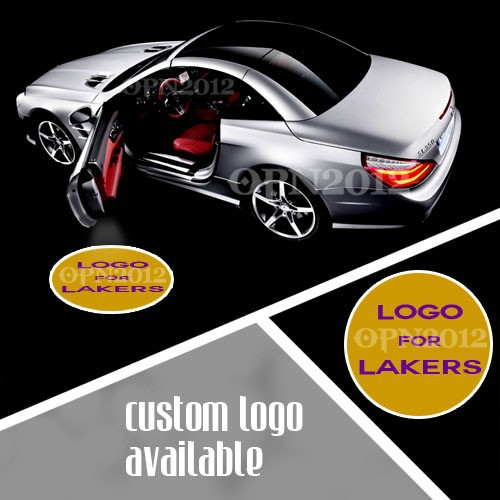 ФОТО Logo Car LED Emblem welcome Ghost Shadow Laser Projector Light Door Courtesy Puddle Light For Los Angeles Lakers Basketball 1155