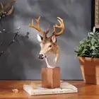 Распродажа! Уникальный Элегантный голова оленя Смола украшения Украшение «Олень» аксессуары для дома Имитация животных лучший подарок