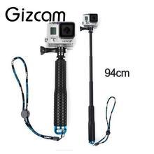 Cheapest prices Gizcam Selfie Pole Extendable 94cm Travel Telescopic Monopod Stick Hand Grip For GoPro Hero 4 3+ 3 2 Camera