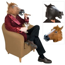 Multi-estilo Teatro Atrezzo Creepy Caballo Unicornio Cabeza de Animal Máscara De Látex de Halloween Broma Máscaras de Disfraces