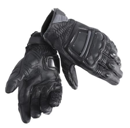 New Dain 4 Stroke Short Gloves Motorcycle Road Racing Gloves Adult Leather Motorbike Glove Knight Men Sports Guantes