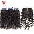 Moda de nueva Espiral Rizo el pelo virginal Brasileño con cierre de envío gratis hot vender productos para el cabello extensiones de cabello humano natural