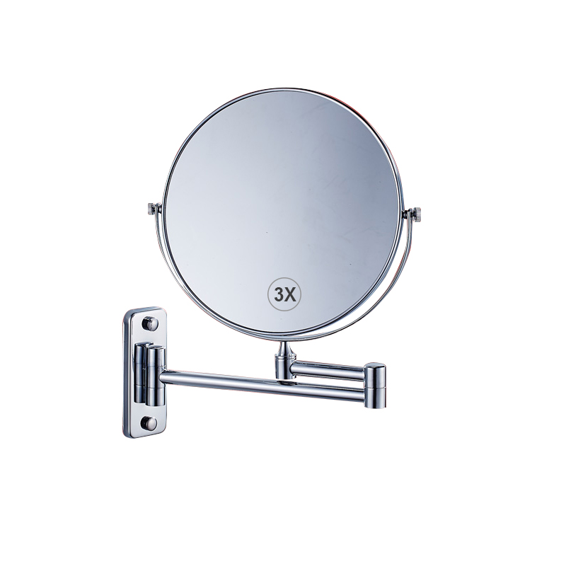 Us 37 99 Wall Mounted Makeup Mirror 3x Magnification 8 Two Sided Swivel Extendable Bathroom Chrome Finish In Decorative Mirrors From Home