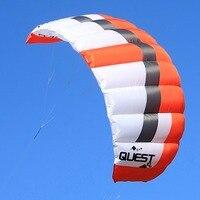 2 кв. м трюк кайт двойной линии Мощность тяги воздушные змеи Открытый Спорт Кайтбординг тренер Кайт бесплатная доставка