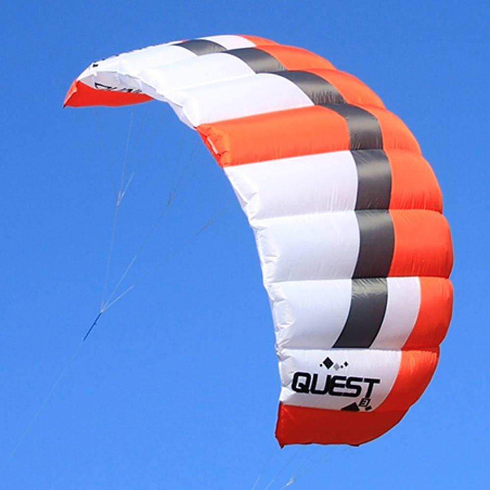 2 m² cascadeur cerf-volant double ligne puissance Traction cerfs-volants Sport de plein air Kiteboarding formateur cerf-volant affranchissement gratuit