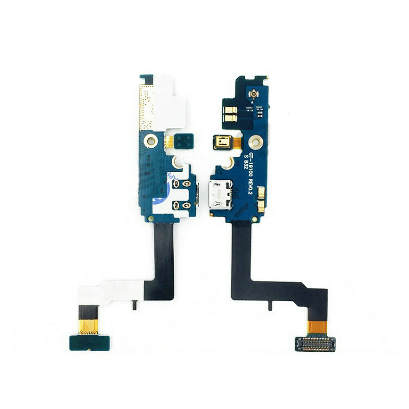 New Microphone Module+USB Charging Port Board Flex Cable Connector Parts For Samsung S2 I9100 I9108 I9100G