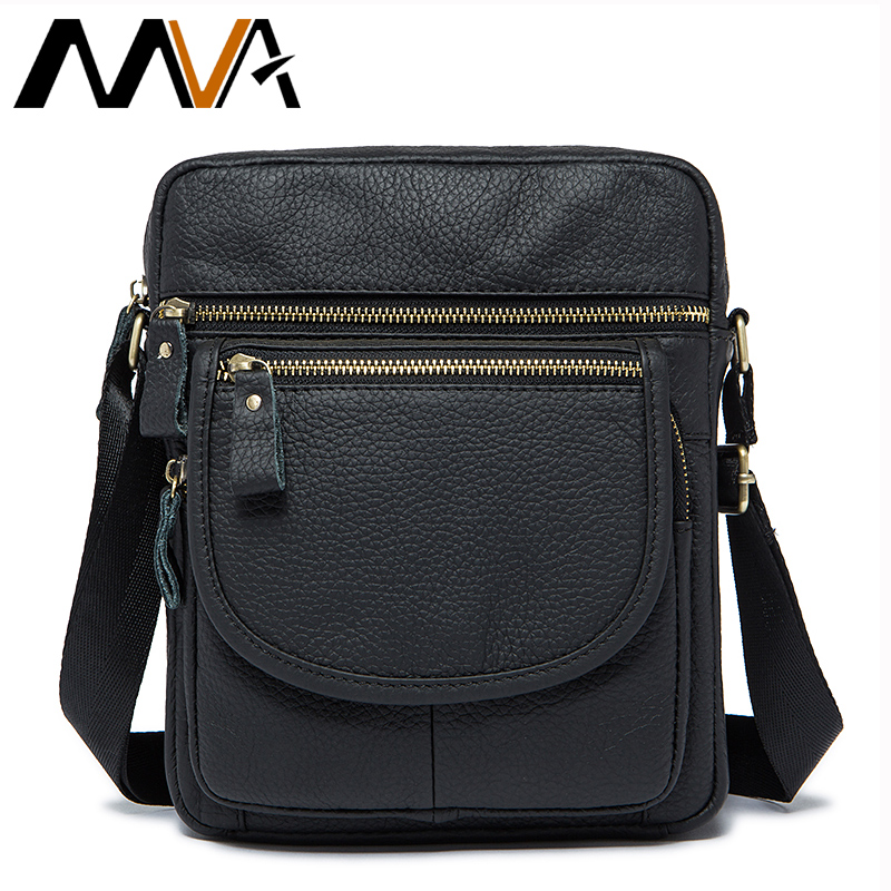 ФОТО MVA Genuine Leather Shoulder Bags Men Messenger Bags Brand Crossbody Bag Men Bag Small Flap Leather Handbag bolsa Male
