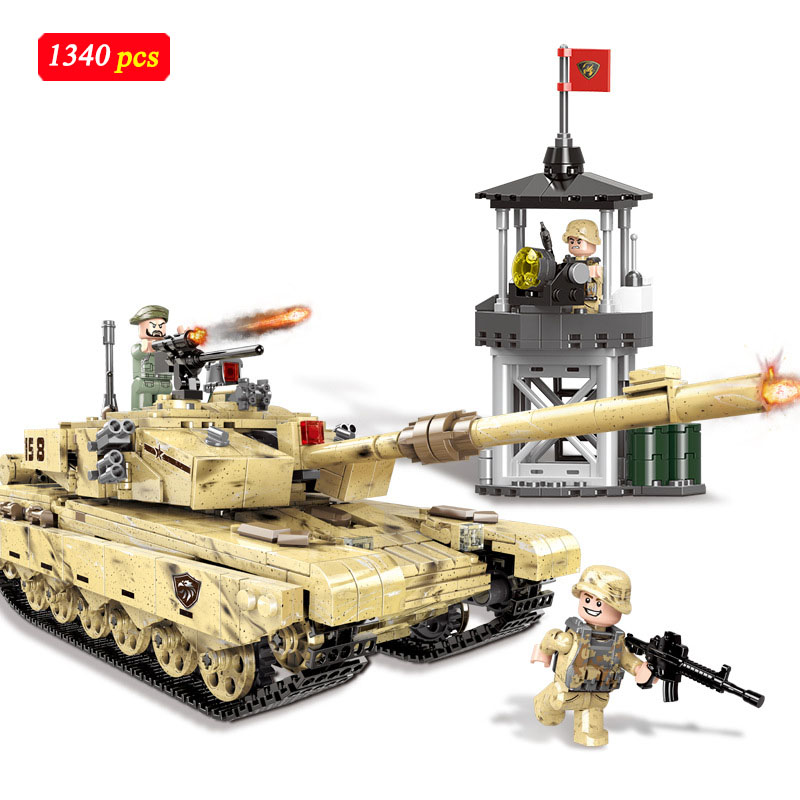 1340Pcs Military building Tiger tank Legoed technic blocks Vehicle Compatible city Police Special forces soldier Bricks toys D321340Pcs Military building Tiger tank Legoed technic blocks Vehicle Compatible city Police Special forces soldier Bricks toys D32