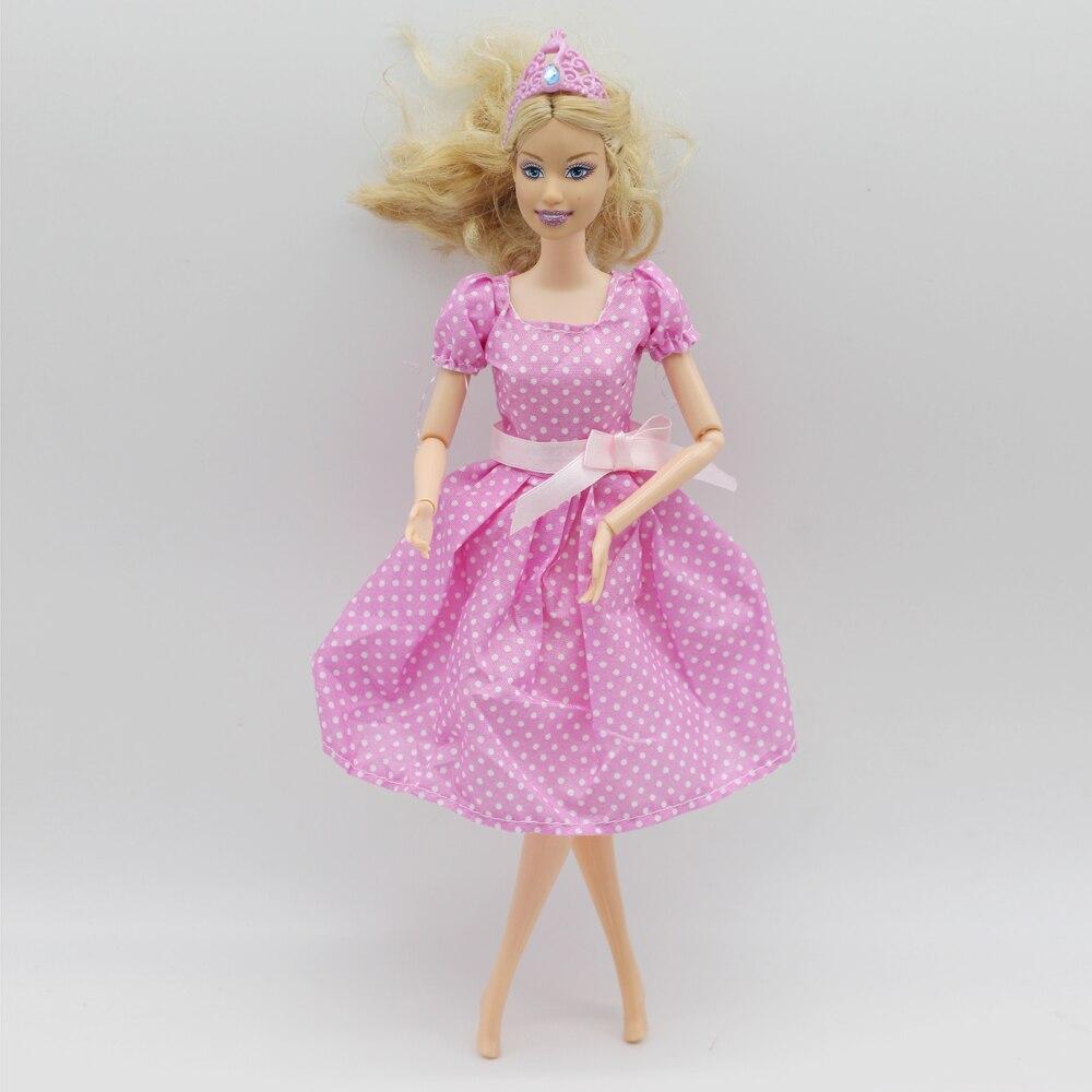 Rosa muñeca vestido hecho a mano hermoso más nuevo la manera de clothestop del Partido para la muñeca noble de Barbie el mejor niño niñas en ...