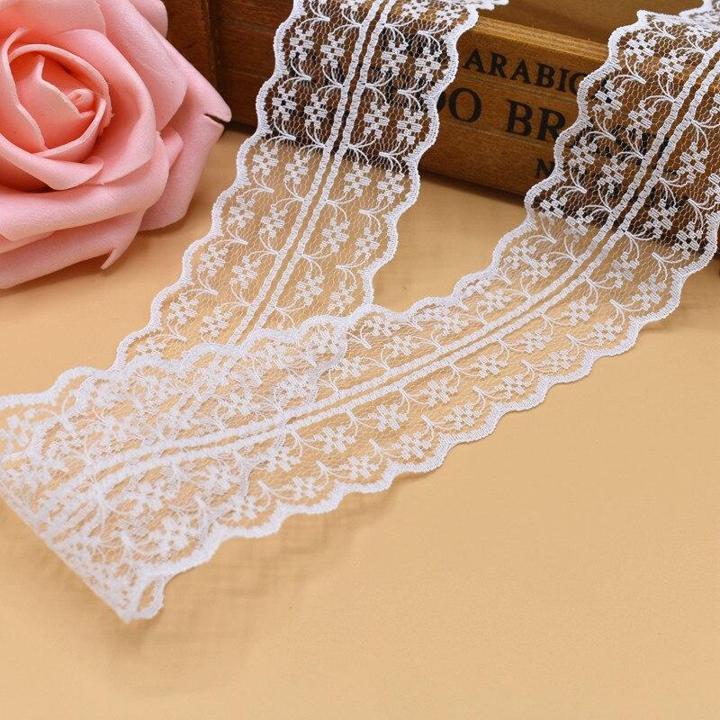Новый 10 ярдов Красивый белый кружево, лента, тесьма 45 мм кружевная бейка ткань своими руками, вышитое Тюлевое кружева для шитья украшение кружевная ткань