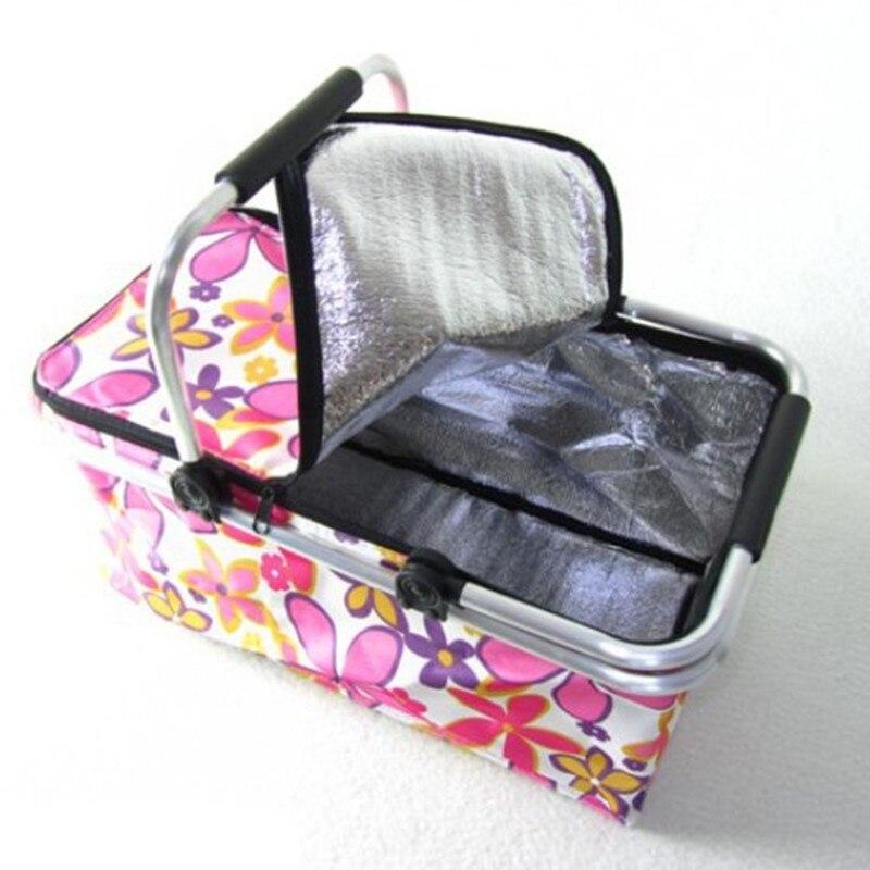 Picnic Basket Picnic Bag Ice Pack Lunch Bags And Coole Insulation Bag Cooler Box Food Basket Handheld Basket Storage Bag