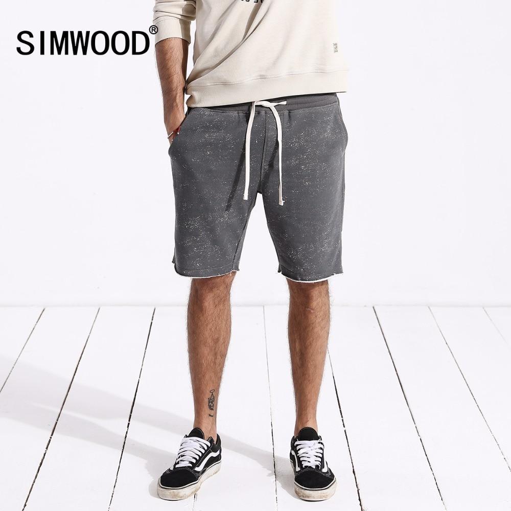 SIMWOOD 2019 Summer New Shorts Men Sportswear Comfortable Vintage Fashion Casual Sweat Trousers Shorts Free Shipping 180440