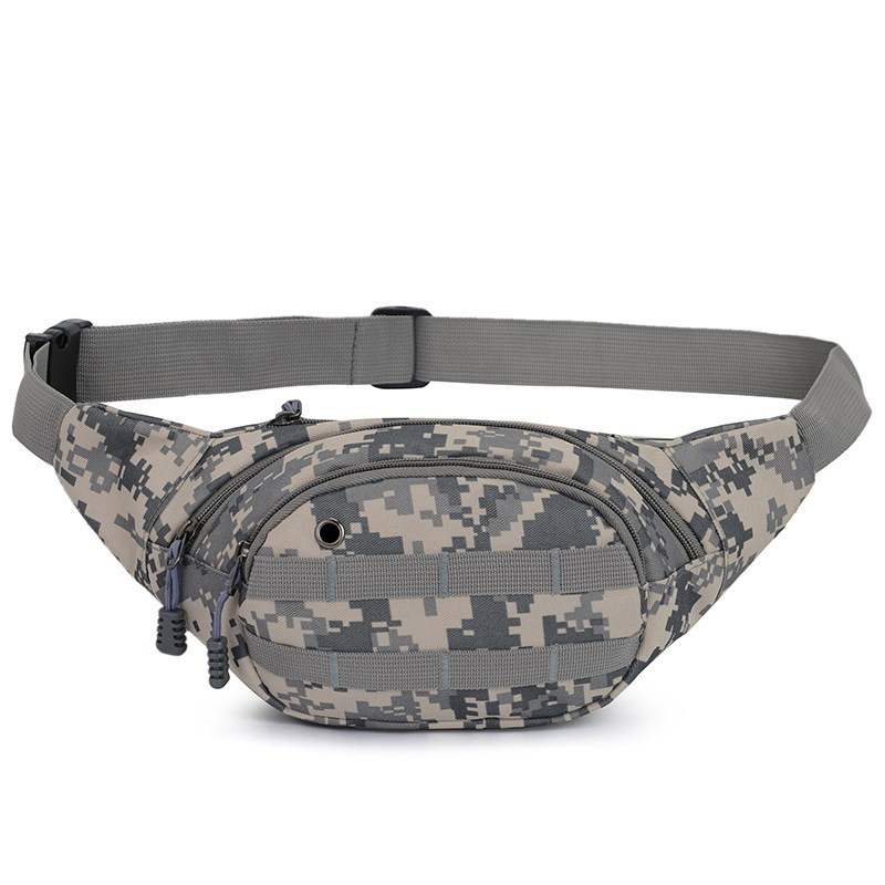 Men Durable Waist Running Camouflage Bag Portable Waist Crossbody Nylon Bag Small Outdoor Pack For Phone Cash Changable Belt ST