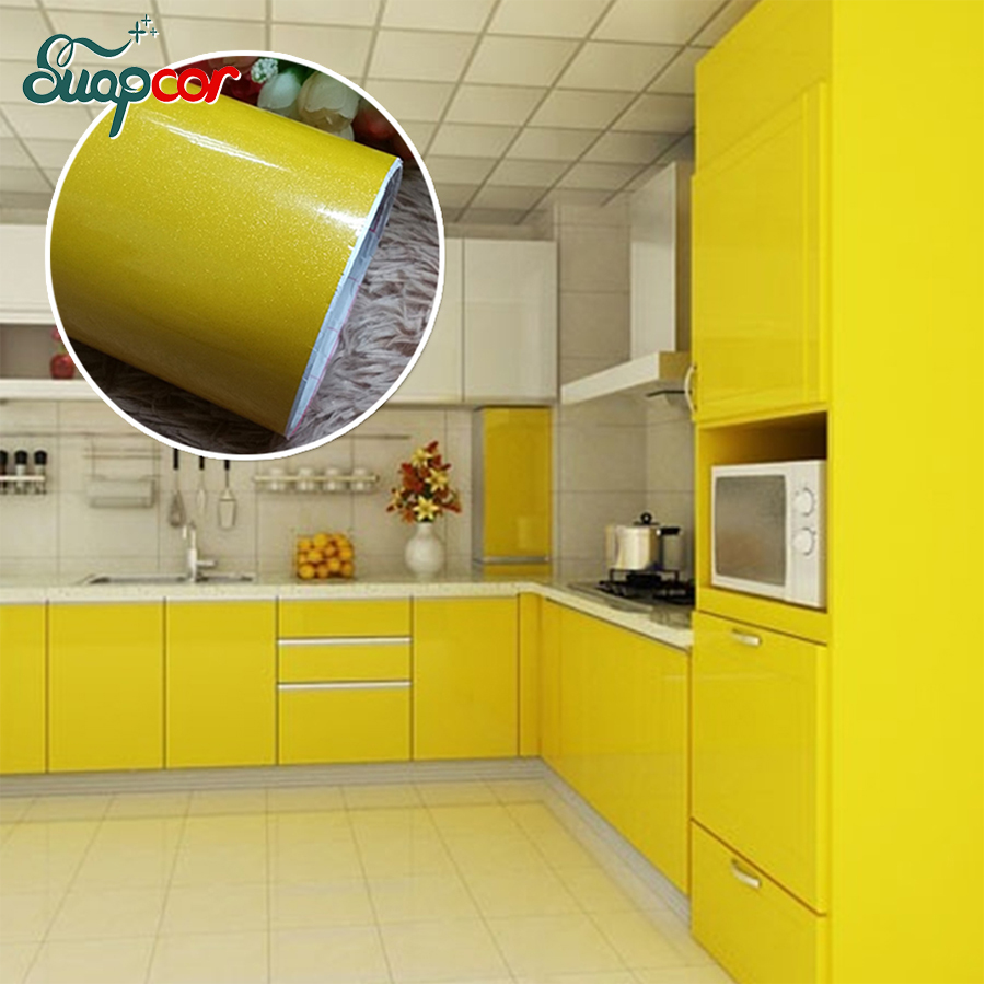 New Paint Self Adhesive Vinyl Wall Stickers Kitchen Cupboard Waterproof Stickers Furniture Wardrobe Decorative Film Home Decor