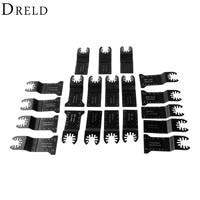DRELD 20Pcs Oscillating Multi Tool 32 45mm HCS E cut/Bi metal Saw Blade Tool For Multimaster Renovator Bosch Power Tools